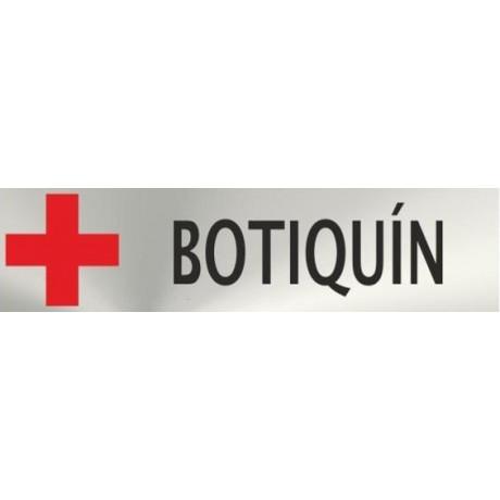 Informativa Botiquín Acero Inoxidable Adhesivo de 0'8mm 50 x 200 mm