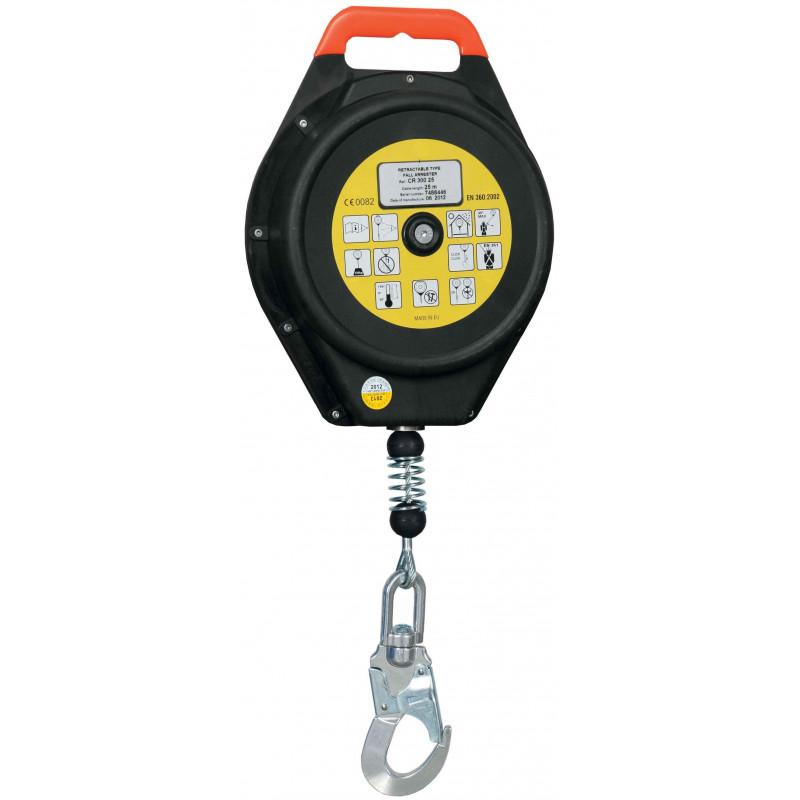 Bloque anticaídas retráctil de cable de 18-20-25-28 m - EN 360 (ref. CR300)