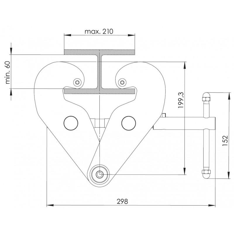 Punto de anclaje para vigas metálicas - EN 795 clase B (ref. AT200)