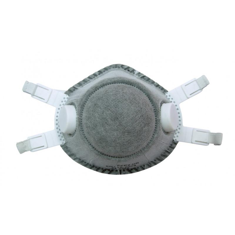 Caja de 5 Mascarillas Desechables Ffp2 Nr Con Dos Válvulas Y Carbon Activo