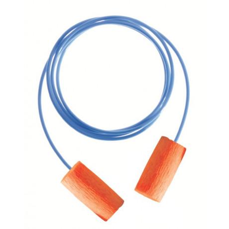 Protectores Auditivos/Orejeras Caja 100 pares de Tapones Desechables Matrix Naranja (Con cordón)