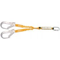 Elemento amarre doble cinta elástica absorbedor energía para andamios
