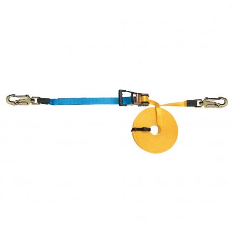 Línea de vida cinta 20m regulable, ganchos antienredos - EN795 clase B