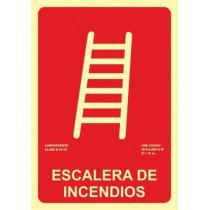 Señal Escalera de Incendios Luminiscente 210 x 300 mm