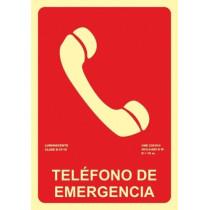 Señal Teléfono de Emergencia Luminiscente 210 x 300 mm