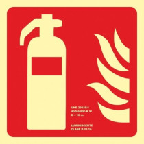 Señal Extintor (Sin Texto) Luminiscente