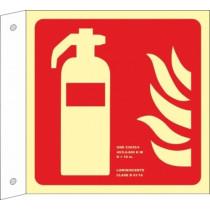 Señal Extintor (Sin Texto) Banderola Luminiscente