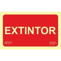 Señal Extintor (Solo Texto) Luminiscente 210 x 130 mm