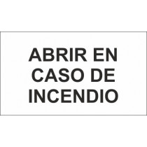 Señal Abris En Caso de Incendio Luminiscente 130 x 80 mm (Pack de 10)