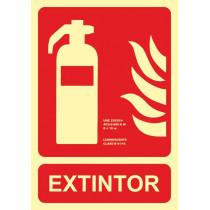 Señal Extintor Luminiscente (No Cumple CTE)