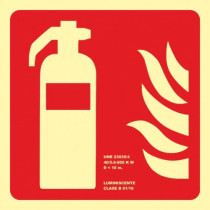 Señal Extintor (Sin Texto) Luminiscente (No Cumple CTE)