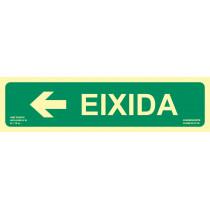 Señal Eixidia Flecha Izquierda Luminiscente 402 x 105 mm