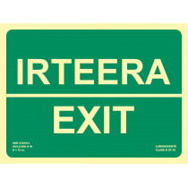 Señal Irteera / Exit Luminiscente 300 x 224 mm