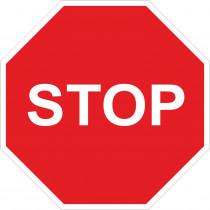 Señal Vial Metálica Stop Diámetro de 500 mm