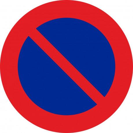 Señal Vial Metálica Estacionamiento Prohibido Diámetro 500 mm