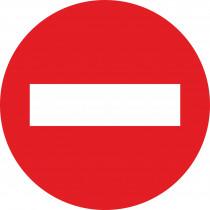 Señal Vial Metálica Entrada Prohibida Diámetro 500 mm