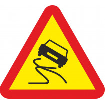 Señal Vial Metálica Pavimento Deslizante Lado 700 mm