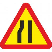 Señal Vial Metálica Estrechamiento de Calzada Por La Izquierda Lado 700 mm