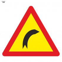 Señal Vial de Bolsa Curva Peligrosa Hacia La Derecha 700 x 700 mm
