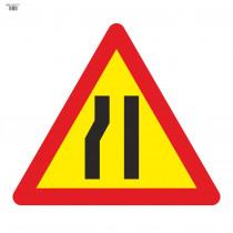 Señal Vial de Bolsa Estrechamiento de Calzada Por La Izquierda 700 x 700 mm