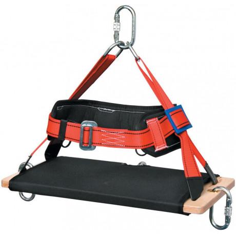 Silla rígida suspensión con aislamiento textil para trabajo vertical