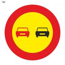 Señal Vial de Bolsa Adelantamiento Prohibido 700 x 700 mm