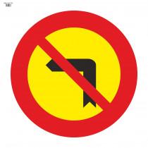 Señal Vial de Bolsa Giro A La Izquierda Prohibido 700 x700 mm