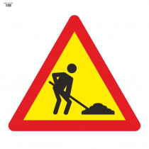 Señal Vial de Bolsa Obras 700 x 700 mm