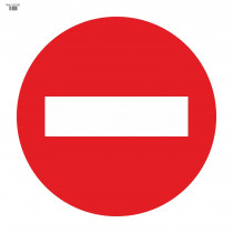 Señal Vial de Bolsa Entrada Prohibida 700 x 700 mm