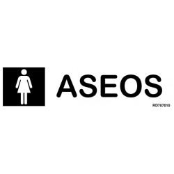 Informativa Aseos FemeninosAcero Inoxidable Adhesivo de 0'8mm 50 x 200 mm