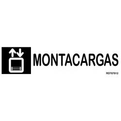 Informativa Montacargas Acero Inoxidable Adhesivo de 0'8mm 50 x 200 mm