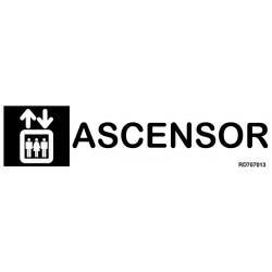 Informativa Ascensor Acero Inoxidable Adhesivo de 0'8mm 50 x 200 mm