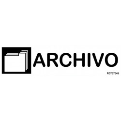 Informativa Archivo Acero Inoxidable Adhesivo de 0'8mm 50 x 200 mm