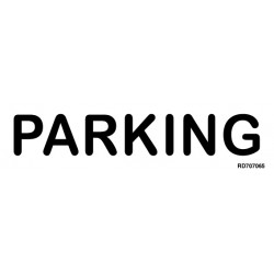 Informativa Parking Acero Inoxidable Adhesivo de 0'8mm 50 x 200 mm