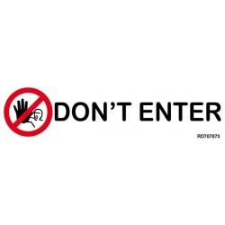Informativa Don't Enter Acero Inoxidable Adhesivo de 0'8mm 50 x 200 mm