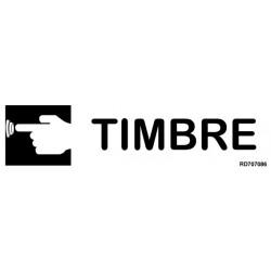 Informativa Timbre Acero Inoxidable Adhesivo de 0'8mm 50 x 200 mm
