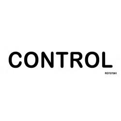 Informativa Control Acero Inoxidable Adhesivo de 0'8mm 50 x 200 mm