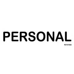 Informativa Personal Acero Inoxidable Adhesivo de 0'8mm 50 x 200 mm
