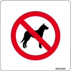 Informativa Prohibido Perros Acero Inoxidable Adhesivo de 0'8mm 120 x 120 mm