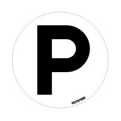 Informativa Redonda Parking Acero Inoxidable Adhesivo de 0'8mm Diámetro 70 mm