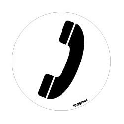 Informativa Redonda Teléfono Acero Inoxidable Adhesivo de 0'8mm Diámetro 70 mm