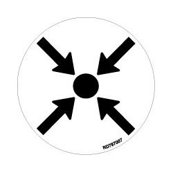 Informativa Redonda Punto de Reunión Acero Inoxidable Adhesivo de 0'8mm Diámetro 70 mm