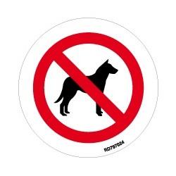 Informativa Redonda Prohibido Perros Acero Inoxidable Adhesivo de 0'8mm Diámetro 70 mm
