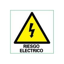 Señal Eléctrica Riesgo Eléctrico 50 x 50 mm (Pack de 10 Unds)