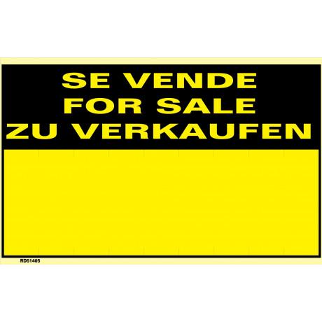 Señal Se Vende/For Sale/Zu Verkaufen