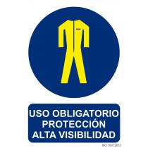 Señal Uso Obligatorio Protección Alta Visibilidad Con Tintas UV