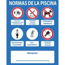 Señal Normas de La Piscina Sí Hay Socorrista 500 x 400 mm