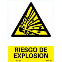 Señal Riesgo de Explosión Con Tintas UV