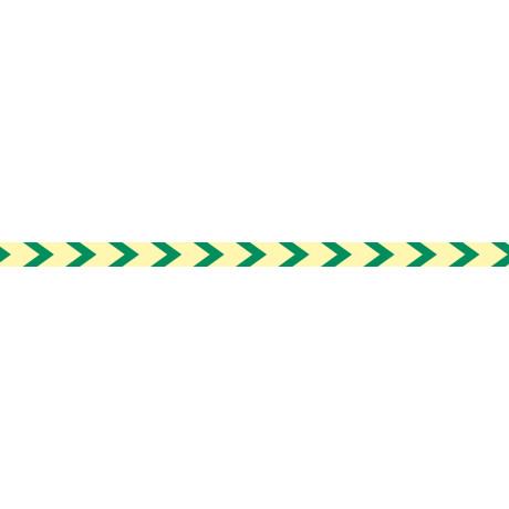 Adhesivo Direccional Balizamiento PVC Transparente Fotoluminiscente