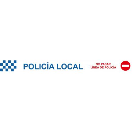 Cinta de Balizamiento Policía Local 75 mm x 200 m x 0'05 mm
